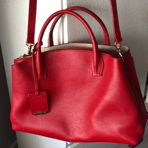 IACUCCI leather red adorable bag🌺
